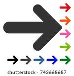 arrow right icon. flat grey...   Shutterstock .eps vector #743668687
