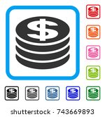 dollar coin column icon. flat...