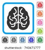 brain icon. flat grey iconic...