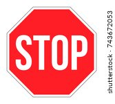 vector stop sign icon. red