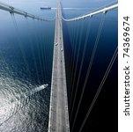 bridge and boat in kobe japan | Shutterstock . vector #74369674