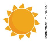 sun icon | Shutterstock .eps vector #743700427