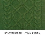 knitted background. knitted... | Shutterstock . vector #743714557