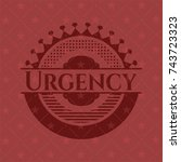 urgency badge with red... | Shutterstock .eps vector #743723323