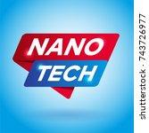 nano tech arrow tag sign. | Shutterstock .eps vector #743726977