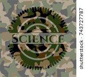 science on camo texture | Shutterstock .eps vector #743727787