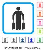 passenger baggage icon. flat...   Shutterstock .eps vector #743735917
