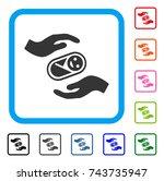 newborn care hands icon. flat...