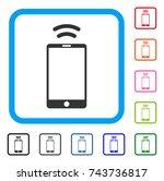 mobile irda signal icon. flat...