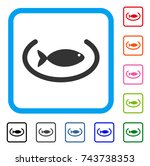 fish container ring icon. flat...