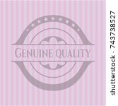 genuine quality retro pink... | Shutterstock .eps vector #743738527