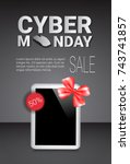 cyber monday sale template... | Shutterstock .eps vector #743741857