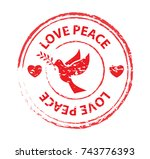 love peace label banner stamp...
