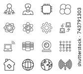 thin line icon set   share ...   Shutterstock .eps vector #743791303