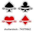 deck of cards | Shutterstock .eps vector #74379862