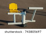 metal training apparatus for... | Shutterstock . vector #743805697