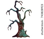 fantasy dark withered deciduous ... | Shutterstock .eps vector #743828923