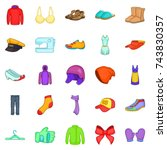 clothing repair icons set.... | Shutterstock . vector #743830357