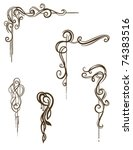 vector scroll collection  hand... | Shutterstock .eps vector #74383516
