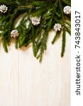 christmas background with fir... | Shutterstock . vector #743843017