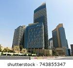 doha  qatar   july 21  2017  ... | Shutterstock . vector #743855347