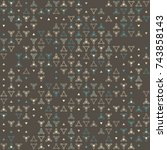 beautiful geometric pattern... | Shutterstock .eps vector #743858143