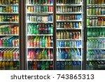 seoul   october 23   many... | Shutterstock . vector #743865313
