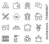 Thin Line Icon Set   Hierarchy...