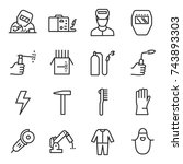 welding a set of icons in a... | Shutterstock .eps vector #743893303