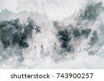 abstract art work showing a...   Shutterstock . vector #743900257