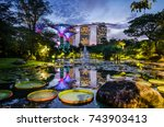 garden by the bay  singapore ... | Shutterstock . vector #743903413