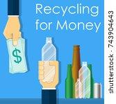 reverse vending machine recycle ... | Shutterstock .eps vector #743904643