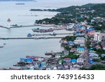 view of the sea   island in si... | Shutterstock . vector #743916433