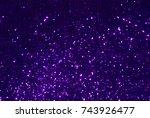 purple glitter texture... | Shutterstock . vector #743926477