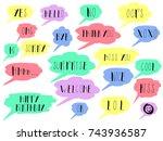 speech bubble colorful set... | Shutterstock .eps vector #743936587