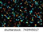 dark black vector abstract... | Shutterstock .eps vector #743945017