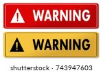 warning warning panels in 2... | Shutterstock . vector #743947603
