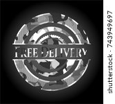 free delivery written on a grey ...   Shutterstock .eps vector #743949697