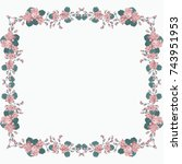 square frame from wild charming ... | Shutterstock . vector #743951953