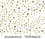doodle stars seamless pattern....   Shutterstock .eps vector #743956633