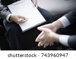 business man signing a contract | Shutterstock . vector #743960947
