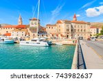 view of historic buildings and... | Shutterstock . vector #743982637