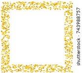 background with golden glitter  ... | Shutterstock .eps vector #743988757