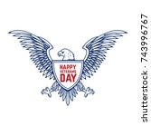 happy veterans day emblem... | Shutterstock .eps vector #743996767