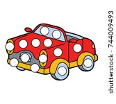 vector digital educational game ... | Shutterstock .eps vector #744009493