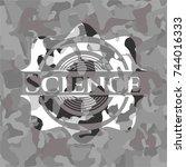 science grey camouflage emblem | Shutterstock .eps vector #744016333