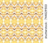 mosaic seamless colorful... | Shutterstock . vector #744029503