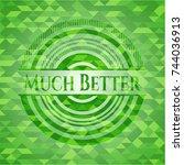 much better realistic green... | Shutterstock .eps vector #744036913