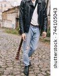 musician guitar player artist... | Shutterstock . vector #744105043