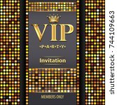 illustration design invitations ... | Shutterstock . vector #744109663